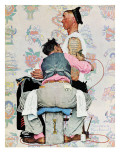 """Tattoo Artist"", March 4,1944 Giclée par Norman Rockwell"
