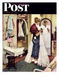 """Prom Dress"" Saturday Evening Post Cover  March 19 1949"