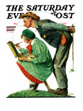 """Hayseed Critic"" Saturday Evening Post Cover  July 21 1928"