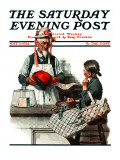 &quot;Thoughtful Shopper&quot; Saturday Evening Post Cover  May 3 1924