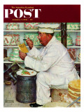&quot;How to Diet&quot; Saturday Evening Post Cover  January 3 1953