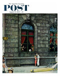 &quot;University Club&quot; Saturday Evening Post Cover  August 27 1960