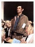 """Freedom Of Speech"", February 21,1943 Giclée par Norman Rockwell"
