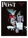 """Willie Gillis in a Blackout"" Saturday Evening Post Cover  June 27 1942"