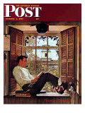 """Willie Gillis in College"" Saturday Evening Post Cover  October 5 1946"