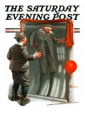"""Boy in Mirror"" or ""Distortion"" Saturday Evening Post Cover  August 13 1921"
