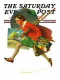 """Wet Paint"" Saturday Evening Post Cover  April 12 1930"