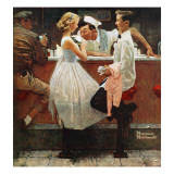 """After the Prom"", May 25,1957 Giclée par Norman Rockwell"