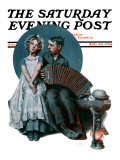 """Accordionist"" or ""Serenade"" Saturday Evening Post Cover  August 30 1924"