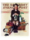 """Home from Camp"" Saturday Evening Post Cover  August 24 1940"