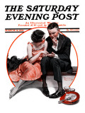 """Palm Reader"" or ""Fortuneteller"" Saturday Evening Post Cover  March 12 1921"
