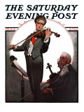"""Violin Virtuoso"" Saturday Evening Post Cover  April 28 1923"