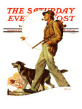 &quot;Autumn Stroll&quot; Saturday Evening Post Cover  November 16 1935