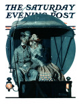 """Moonlight Buggy Ride"" Saturday Evening Post Cover  September 19 1925"