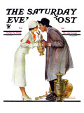 &quot;Bargaining with Antique Dealer&quot; Saturday Evening Post Cover  May 19 1934