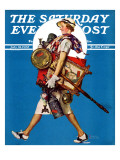 """At the Auction"" or ""Found Treasure"" Saturday Evening Post Cover  July 31 1937"