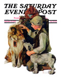 """Making Friends"" or ""Raleigh Rockwell"" Saturday Evening Post Cover  September 28 1929"