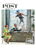 &quot;Window Washer&quot; Saturday Evening Post Cover  September 17 1960