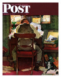 """""""It's Income Tax Time Again!"""" Saturday Evening Post Cover, March 17,1945 Giclée par Norman Rockwell"""