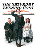 """Recitation"" Saturday Evening Post Cover  June 14 1919"