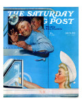 """Two Flirts"" Saturday Evening Post Cover  July 26 1941"