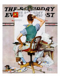 &quot;Blank Canvas&quot; Saturday Evening Post Cover  October 8 1938