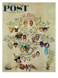 """Family Tree"" Saturday Evening Post Cover  October 24 1959"