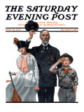"""Salute to Colors"" Saturday Evening Post Cover  May 12 1917"