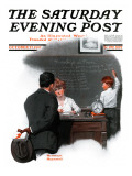 """Knowledge is Power"" Saturday Evening Post Cover  October 27 1917"