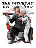 """""""Setting One's Sights"""" or """"Ship Ahoy"""" Saturday Evening Post Cover, August 19,1922 Giclée par Norman Rockwell"""