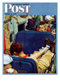 """Travel Experience"" Saturday Evening Post Cover  August 12 1944"