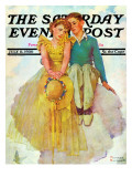 """""""On Top of the World"""" Saturday Evening Post Cover, July 11,1936 Giclée par Norman Rockwell"""
