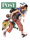 &quot;Rosie to the Rescue&quot; Saturday Evening Post Cover  September 4 1943
