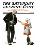 &quot;Giving to Red Cross&quot; Saturday Evening Post Cover  September 21 1918