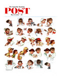 """Day in the Life of a Boy"" Saturday Evening Post Cover, May 24,1952 Giclée par Norman Rockwell"