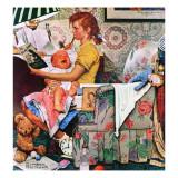 """Baby Sitter"", November 8,1947 Giclée par Norman Rockwell"
