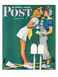 """""""Double Trouble for Willie Gillis"""" Saturday Evening Post Cover, September 5,1942 Giclée par Norman Rockwell"""