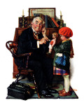 """Doctor and the Doll"", March 9,1929 Giclée par Norman Rockwell"