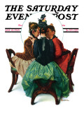 &quot;Three Gossips&quot; Saturday Evening Post Cover  January 12 1929