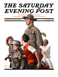 &quot;When Johnny Comes Marching Home&quot; Saturday Evening Post Cover  February 22 1919