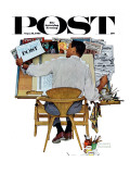 &quot;Artist at Work&quot; Saturday Evening Post Cover  September 16 1961