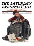 """Pen Pals"" Saturday Evening Post Cover  January 17 1920"