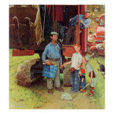 """Construction Crew"", August 21,1954 Giclée par Norman Rockwell"