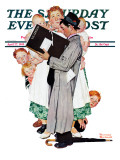 """Census-taker"" Saturday Evening Post Cover  April 27 1940"