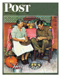&quot;Home for Thanksgiving&quot; Saturday Evening Post Cover  November 24 1945