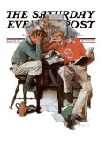 &quot;Cramming&quot; Saturday Evening Post Cover  June 13 1931