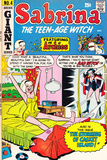 Archie Comics Retro: Sabrina the Teen-age Witch Comic Book Cover 4 featuring The Archies (Aged)
