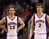 Portland Trail Blazers v Phoenix Suns: Steve Nash and Goran Dragic