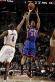 New York Knicks v Cleveland Cavaliers: Wilson Chandler and Antawn Jamison