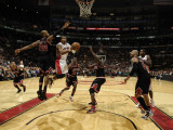 Chicago Bulls v Toronto Raptors: Taj Gibson and Leandro Barbosa